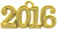 Gold Plated Year Tag