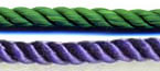 Honor Cord - KELLY GREEN AND PURPLE  honor cords