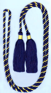 Honor Cord - NAVY BLUE AND GOLD  honor cords