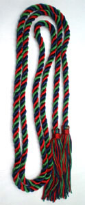Single Honor Cord in 3 Colors - NAVY BLUE, KELLY GREEN and DARK RED