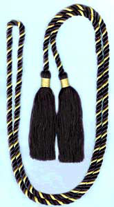 Single Honor Cord in 2 Colors - LIGHT GOLD and BLACK