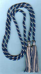 Single Honor Cord in 2 Colors - ROYAL BLUE and SILVER