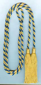 Single Honor Cord in 2 Colors - NAVY BLUE and LIGHT GOLD